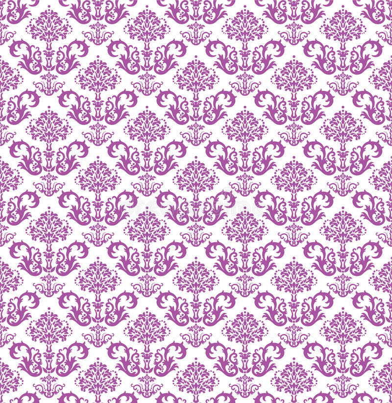 Nahtlose rosa Blumentapete auf Weiß vektor abbildung