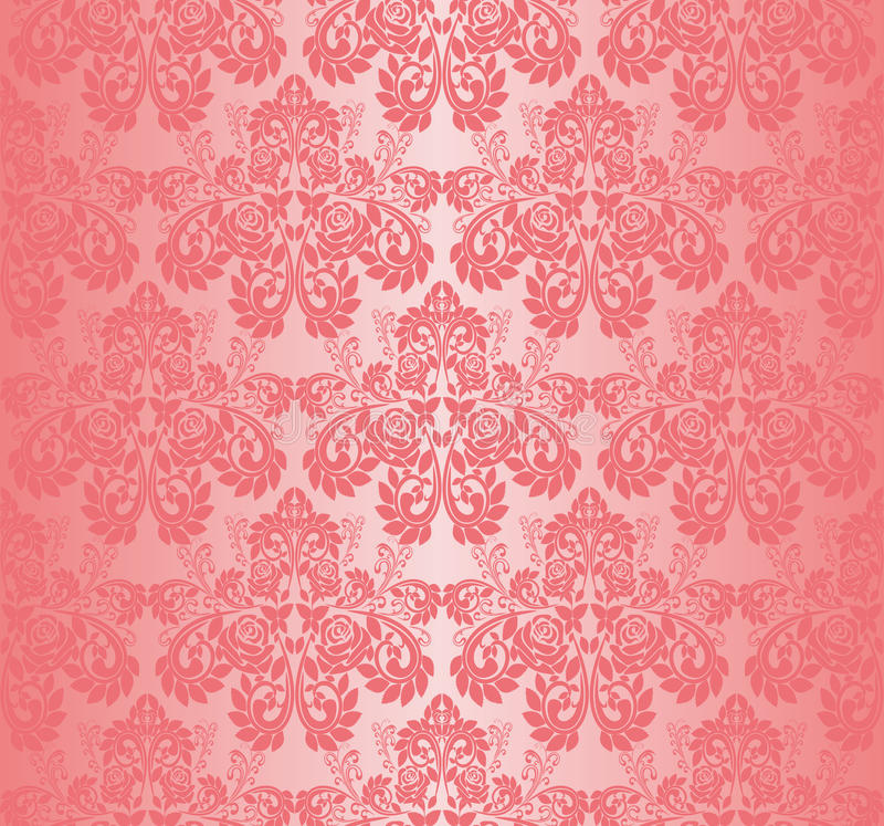 Nahtlose rosa tapete verzierung mit rosen vektor for Ornament tapete rosa