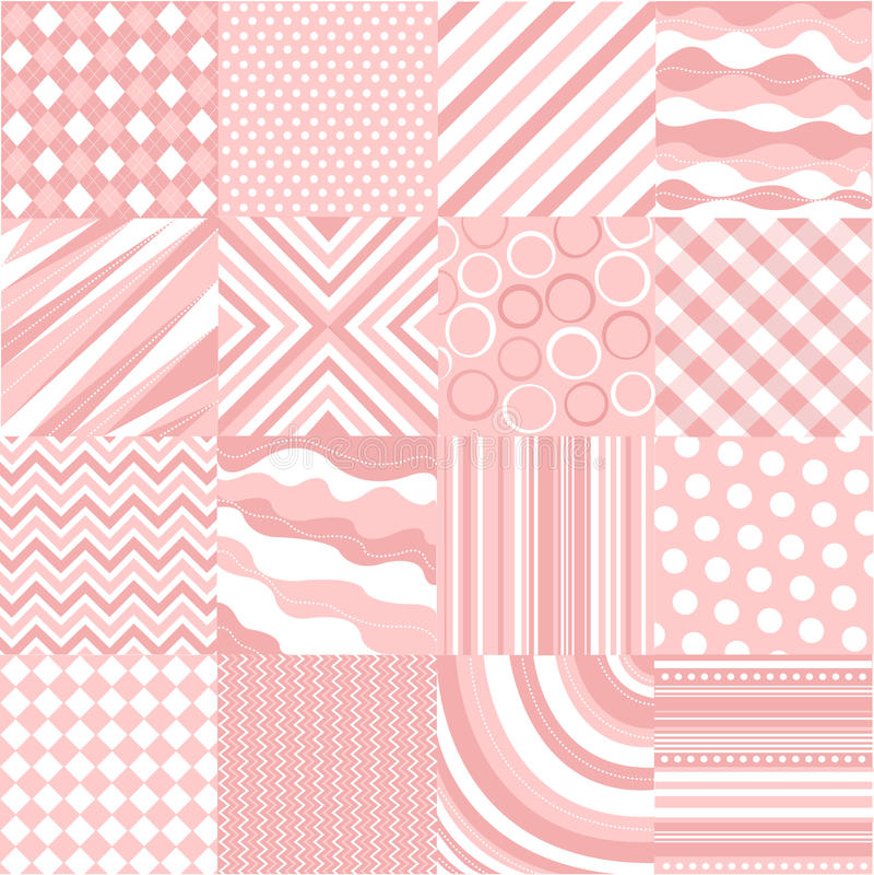 Nahtlose rosafarbene Muster mit Gewebebeschaffenheit stock abbildung