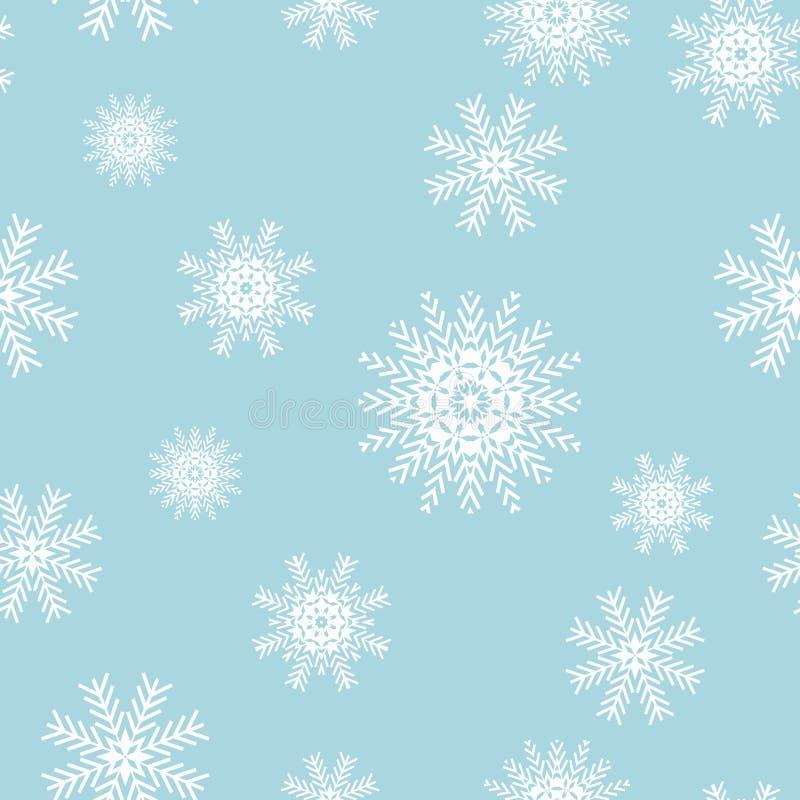Nahtlose Schneeflocken für Winter- und Weihnachtsthema Schnee lokalisiert auf Hintergrund EPS10 Vektor illu lizenzfreie abbildung