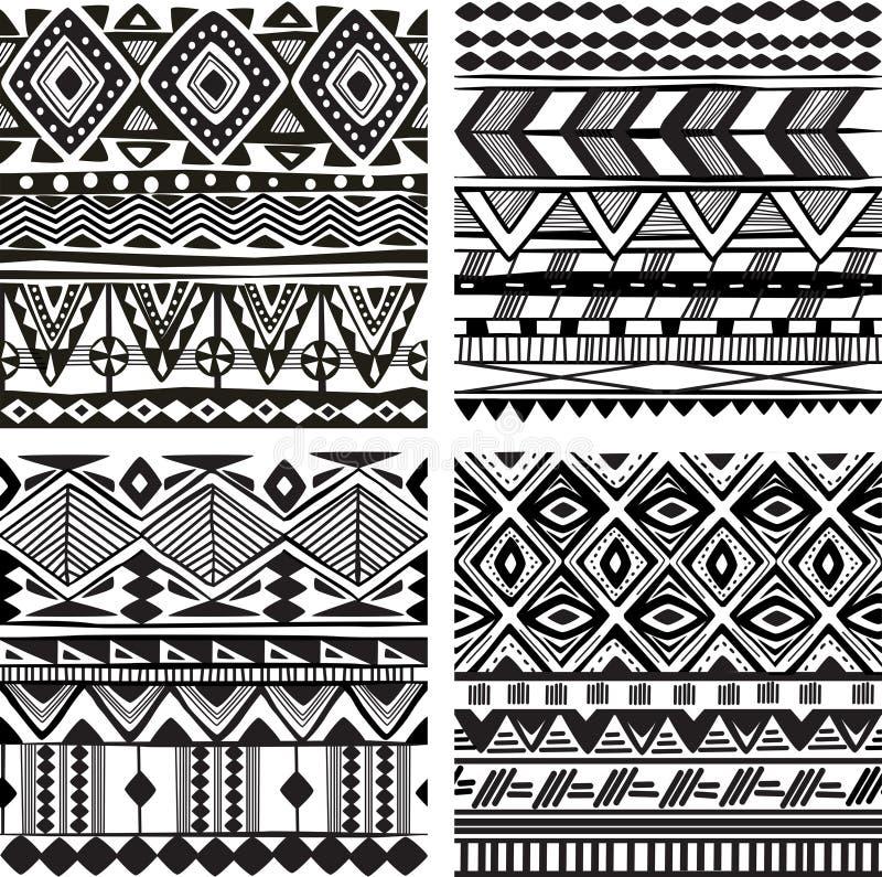 Nahtlose Stammes- Beschaffenheit stock abbildung