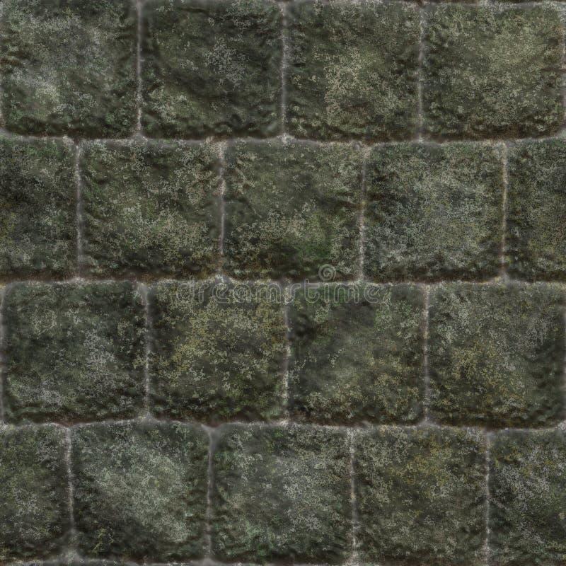 Nahtlose Steinwand stock abbildung