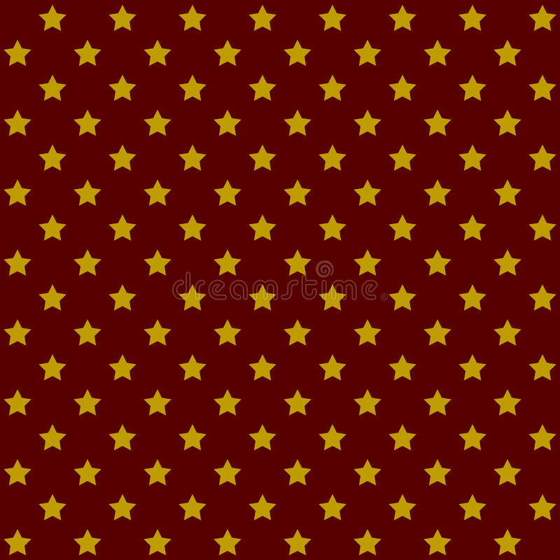 Nahtlose Sternchen-Vereinbarung im Retro- Rot Vektor vektor abbildung