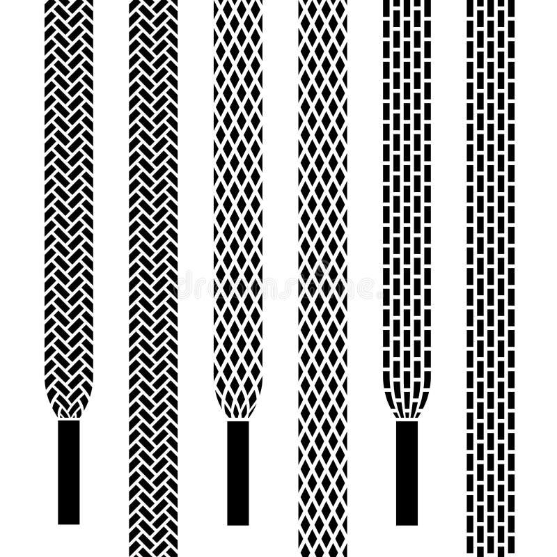 Nahtlose Symbole der Schuhspitzes vektor abbildung
