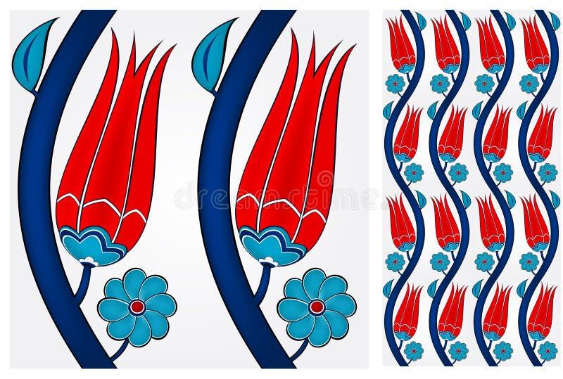 Nahtlose türkische Fliese stock abbildung