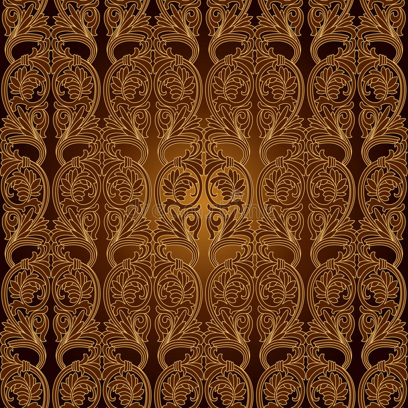 Nahtlose Tapete des Muster-Background.Damask. vektor abbildung