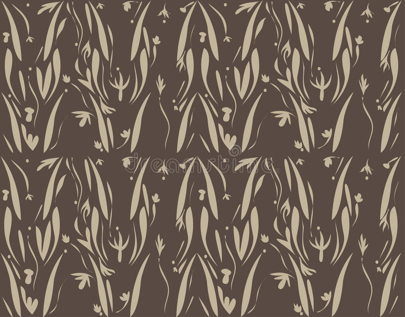 Nahtlose Tapetendesignnatur verlässt Blumenthema stock abbildung