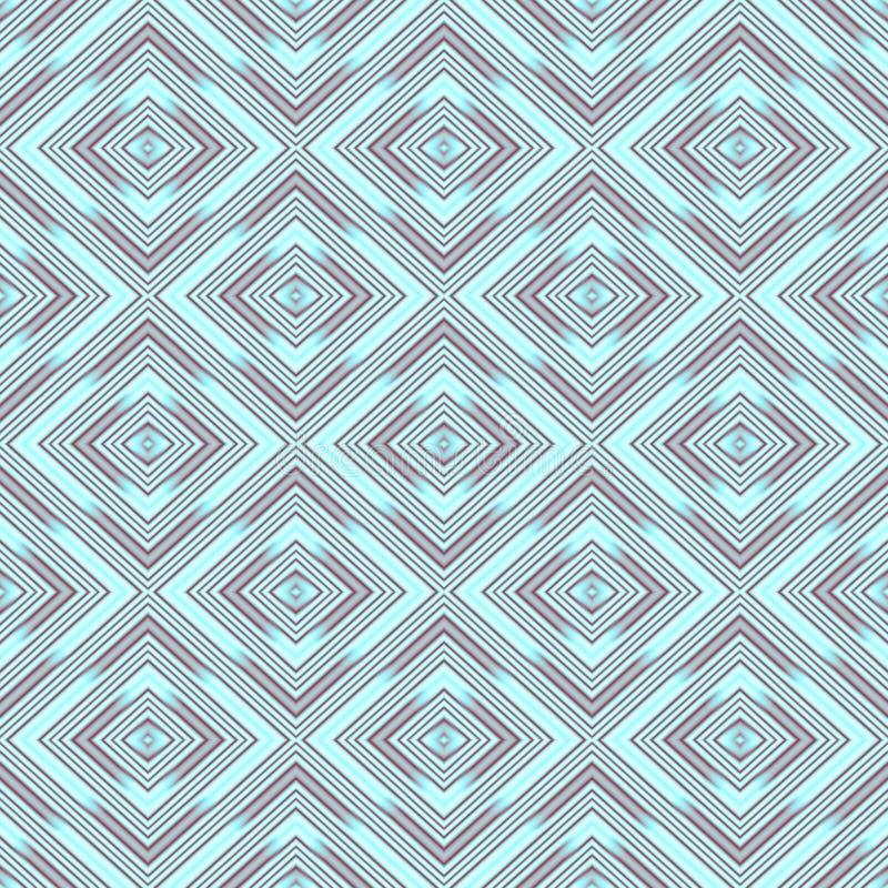 Nahtlose Tapetenrauten, azurblaues geometrisches Muster vektor abbildung