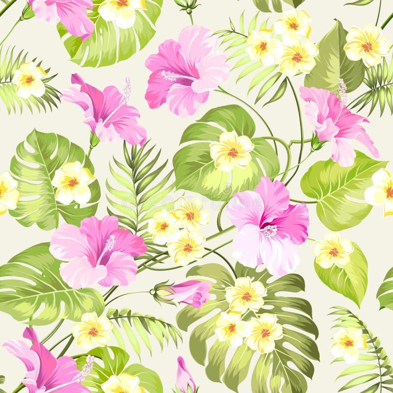Nahtlose tropische Blume lizenzfreie abbildung