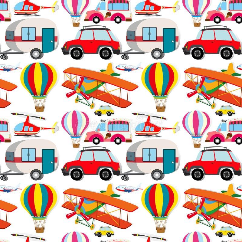 Nahtlose unterschiedliche Art von Transporten lizenzfreie abbildung