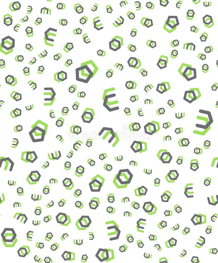 Nahtlose ursprüngliche geometrische Muster Modernes Muster der modischen Hippies stock abbildung