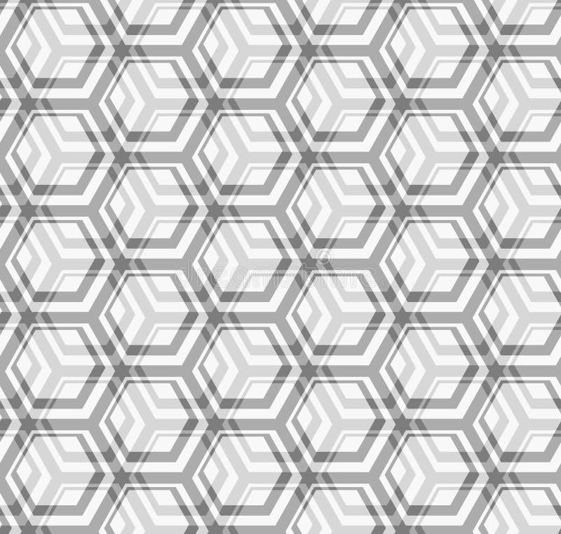 Nahtlose vektorbeschaffenheit - graue Hexagone stock abbildung