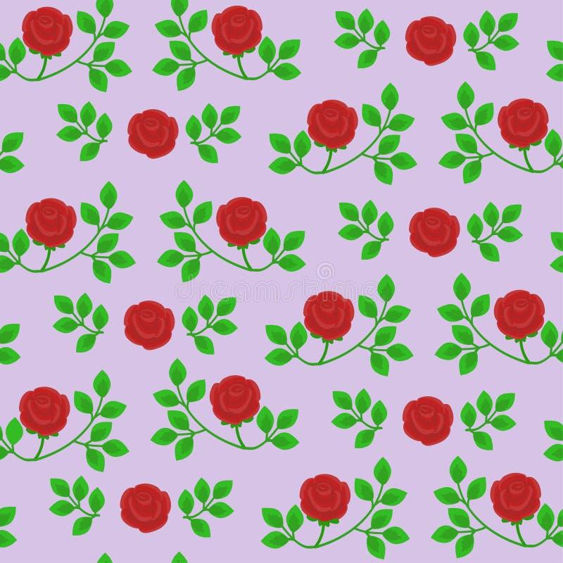 Nahtlose Vektorbeschaffenheit mit abstrakten Rosen lizenzfreie abbildung