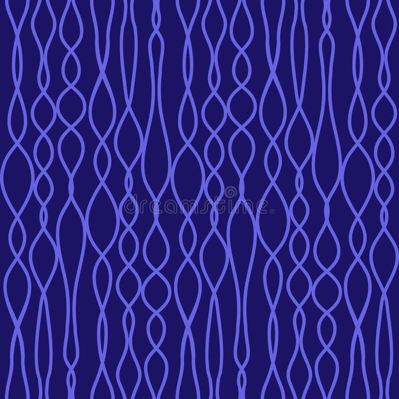 Nahtlose Vektormaschenwarebeschaffenheit mit blauen Linien stock abbildung