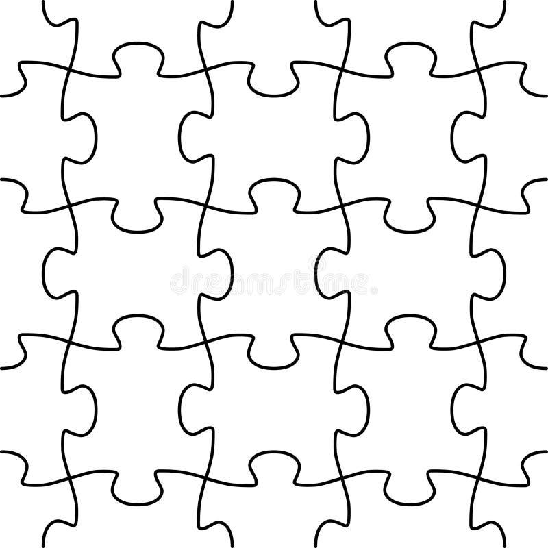 Nahtlose vektorpuzzlespielform lizenzfreie abbildung
