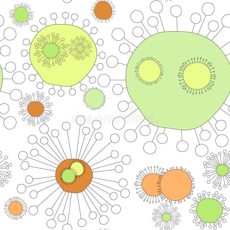 Nahtlose Virus-Blumen lizenzfreie abbildung