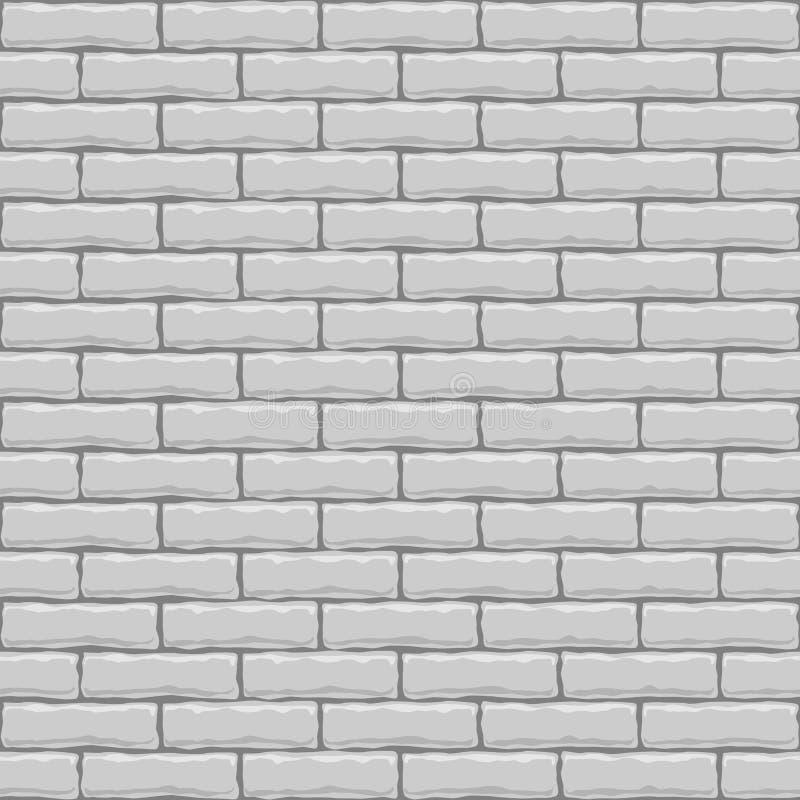 Nahtlose weiße Backsteinmauer vektor abbildung
