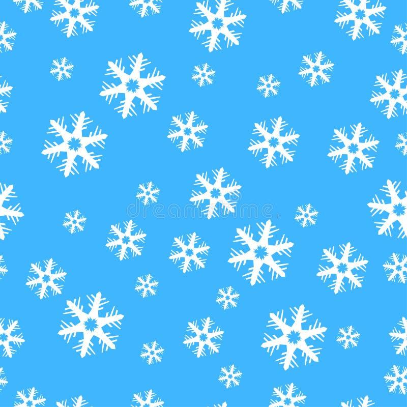 Nahtlose Weihnachtsdekorationschneeflocken vektor abbildung