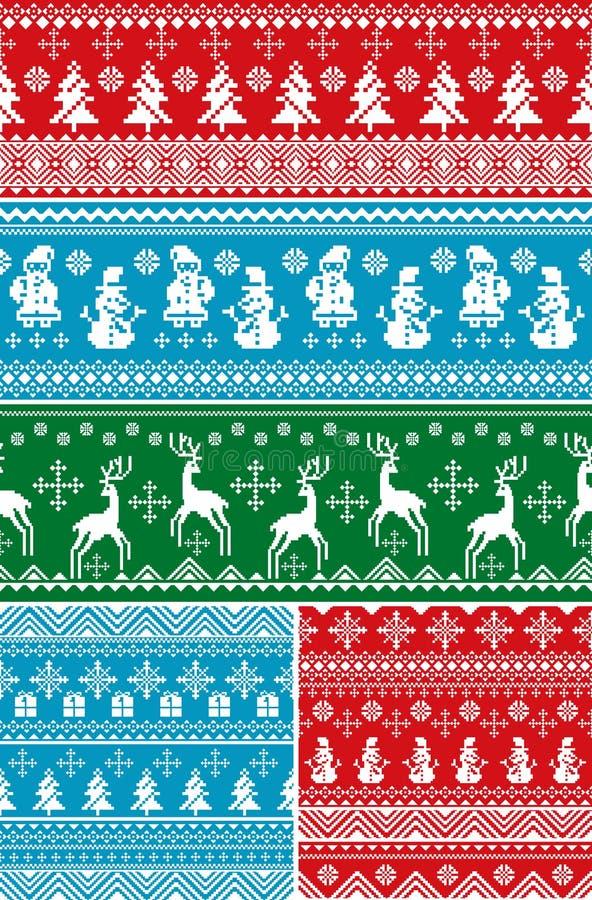 Nahtlose Weihnachtsmuster lizenzfreie abbildung