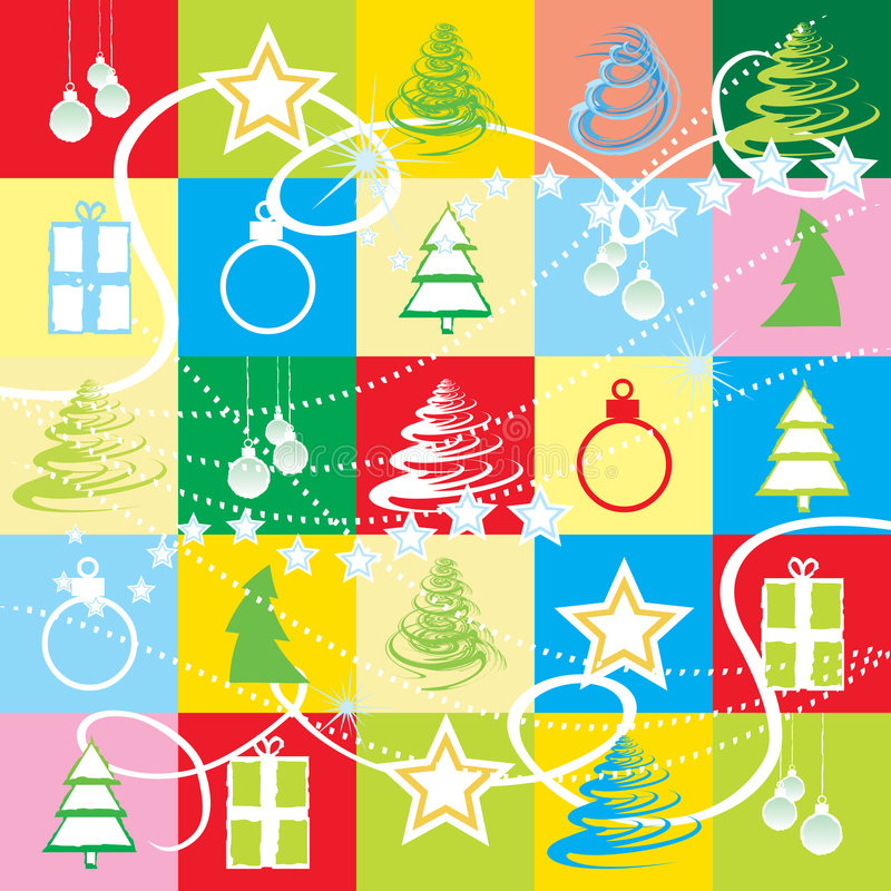Nahtlose Weihnachtstapete stock abbildung