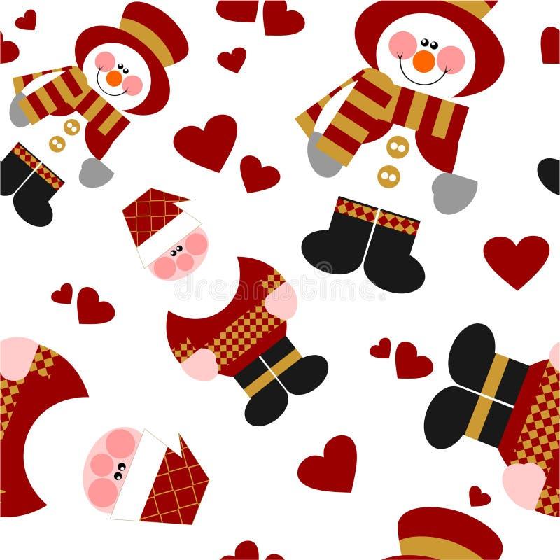 Nahtlose Weihnachtsverzierung in Farbe 66 stock abbildung