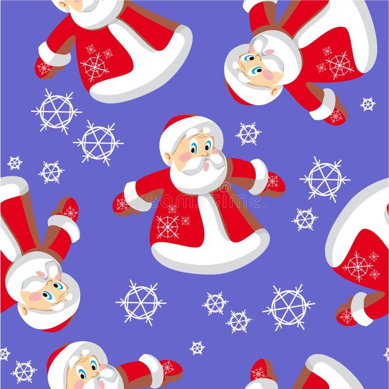 Nahtlose Weihnachtsverzierung in Farbe 73 lizenzfreie abbildung
