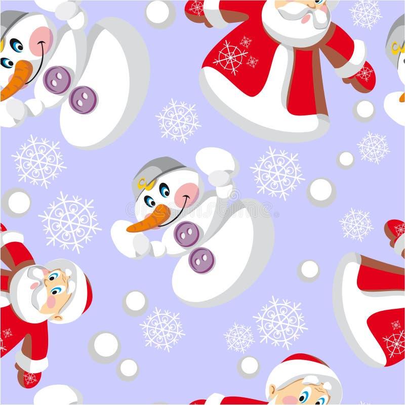 Nahtlose Weihnachtsverzierung in Farbe 79 lizenzfreie abbildung