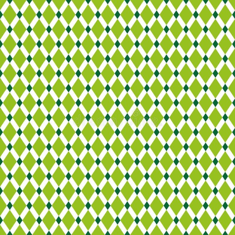 Nahtlose Weinlese Diamond Pattern Background vektor abbildung