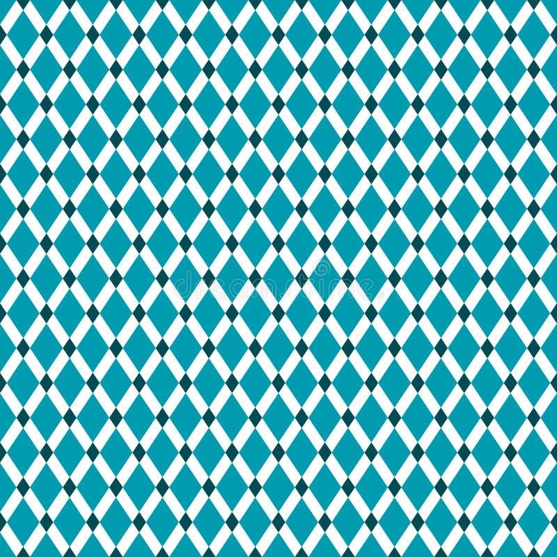 Nahtlose Weinlese Diamond Pattern Background lizenzfreie abbildung