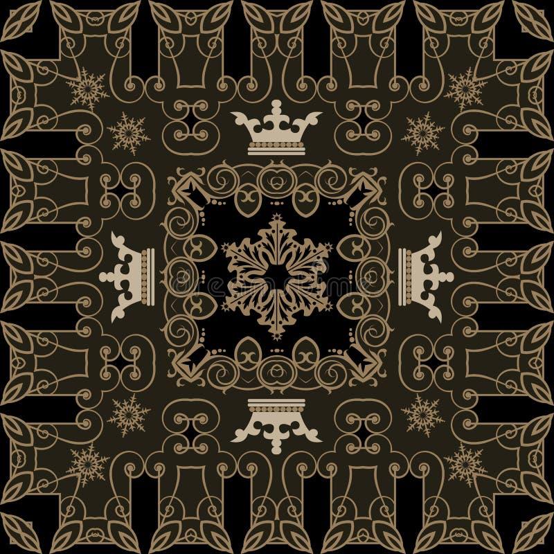 Download Nahtlose Weinlese. Tapeten-Muster. Vektor Vektor Abbildung - Illustration von dekor, verzierung: 26372693