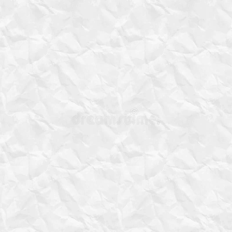 Nahtlose zerknittert Papierbeschaffenheit vektor abbildung