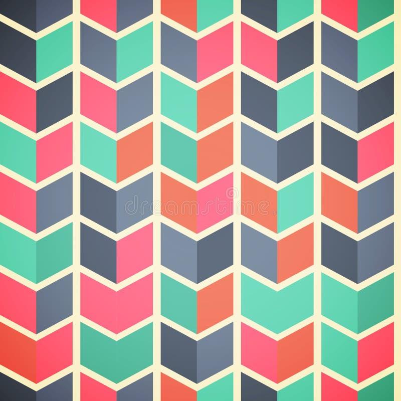 Nahtloser abstrakter bunter Hintergrund mit Pfeilen in der Retro- Farbe lizenzfreies stockbild