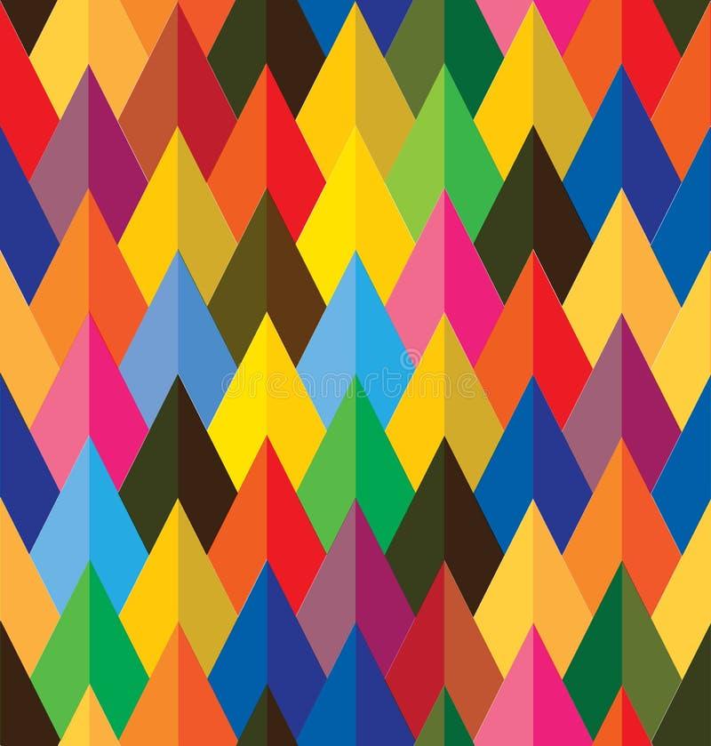 Nahtloser abstrakter bunter Hintergrund von Kegeln oder  vektor abbildung