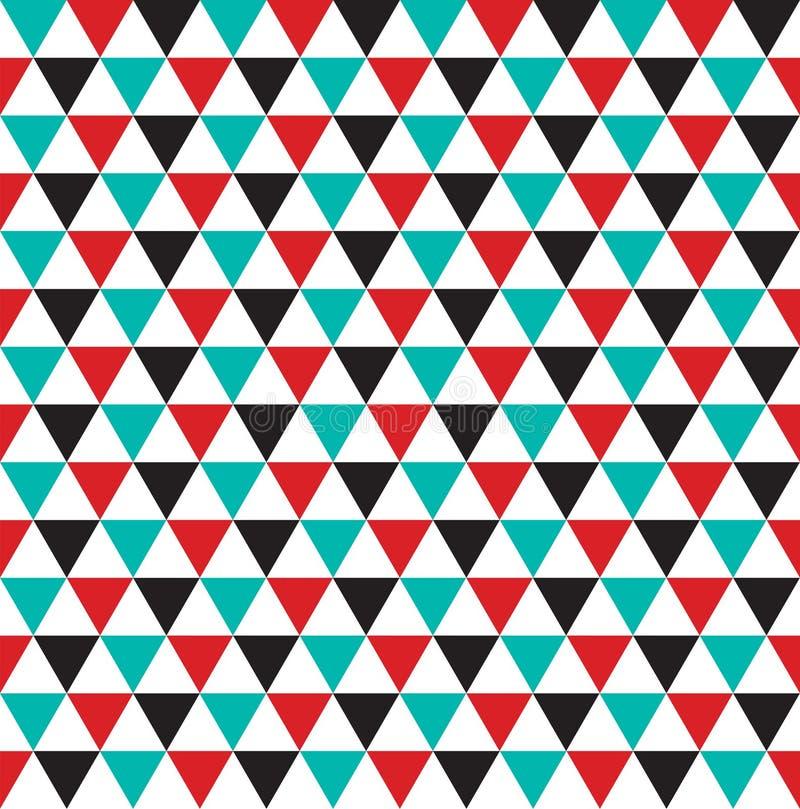 Nahtloser abstrakter Dreieckmusterbeschaffenheits-Tapetenhintergrund stock abbildung