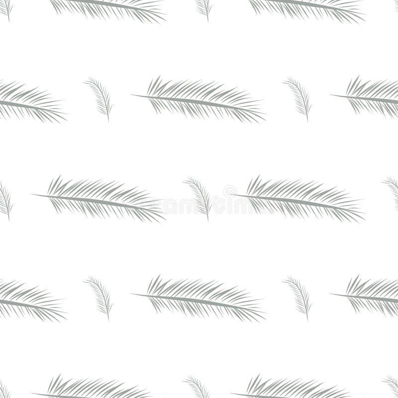 Nahtloser abstrakter Federillustrationshintergrund Design, unordentliches, kreatives u. Schablone vektor abbildung