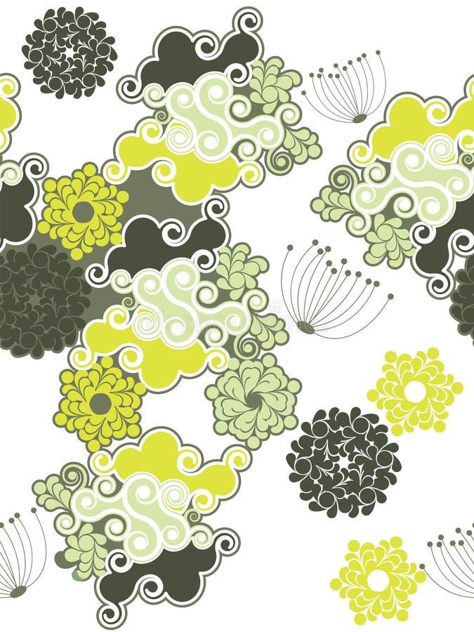 Nahtloser abstrakter Hintergrund mit Strudeln lizenzfreie abbildung