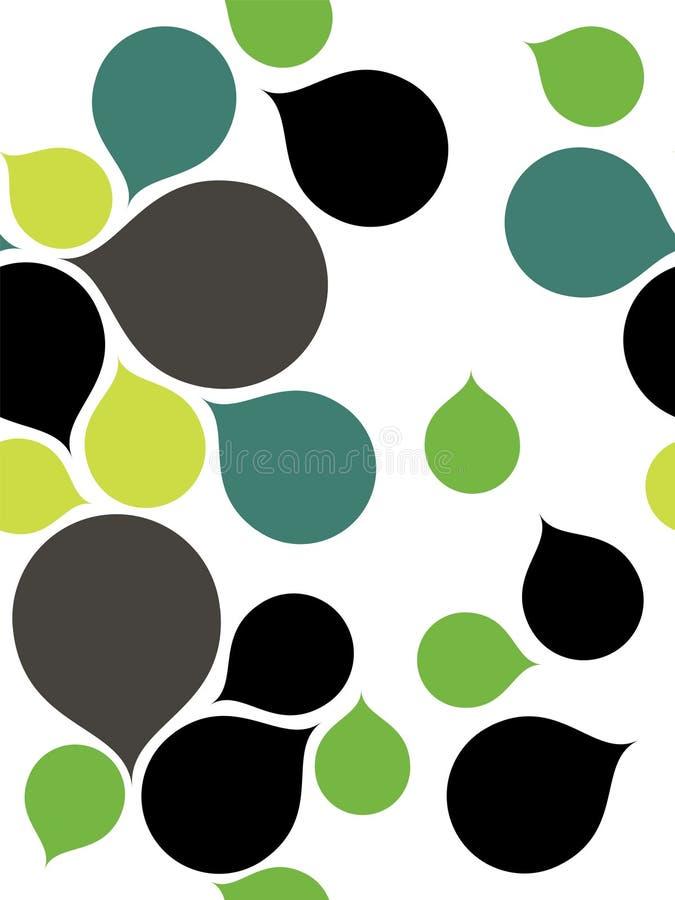 Nahtloser abstrakter Hintergrund mit Tröpfchen vektor abbildung