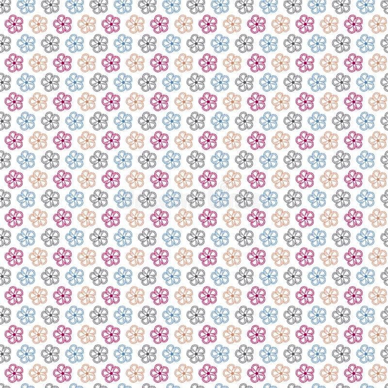 Download Nahtloser Abstrakter Mit Blumenhintergrund Vektor Abbildung - Illustration von blume, floral: 26350829