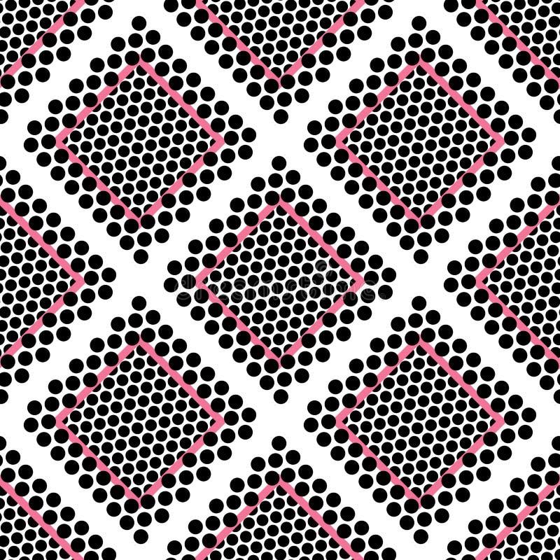 Nahtloser abstrakter Musterhintergrund mit einer Vielzahl von farbigen Kreisen stockbild