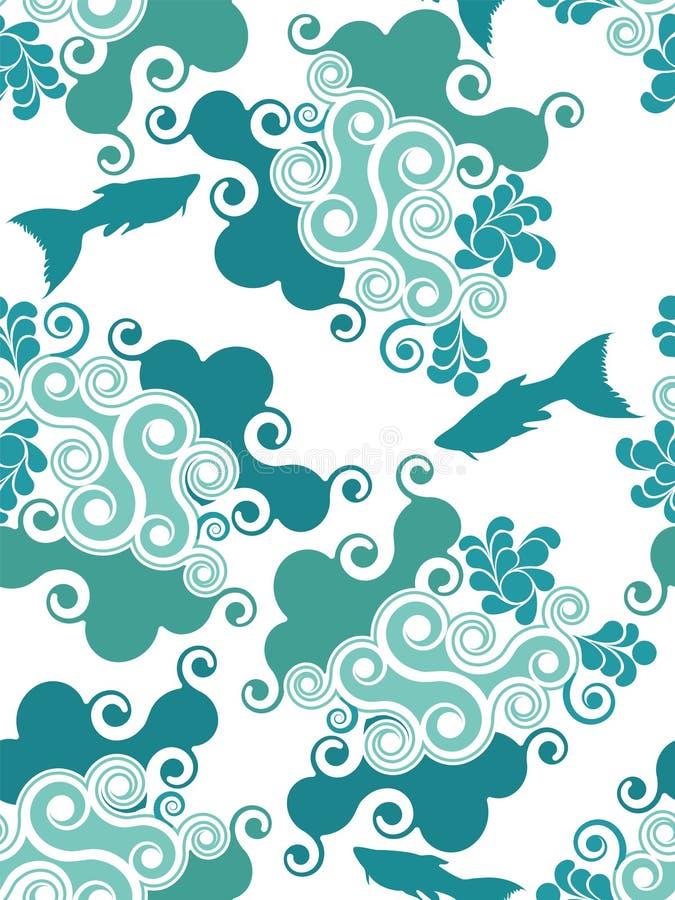 Nahtloser abstrakter Wasserhintergrund stock abbildung