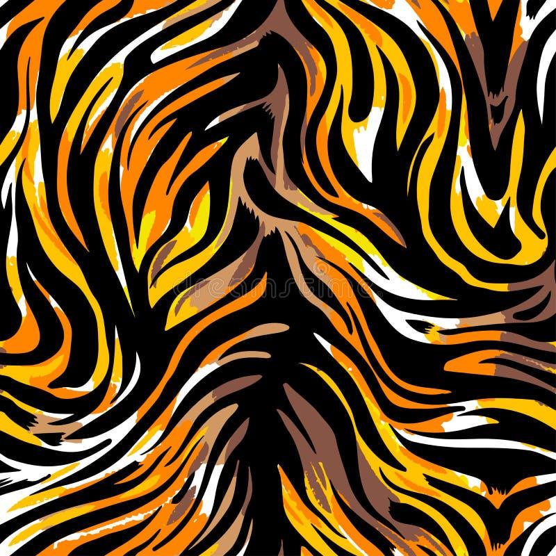 Nahtloser abstrakter wilder exotischer Tierdruck Leopard, Zebra, gepard lizenzfreie abbildung
