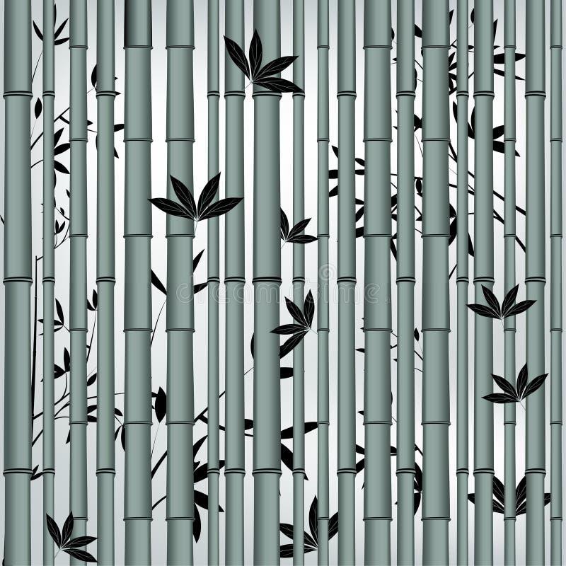 Nahtloser asiatischer Bambuswald stock abbildung