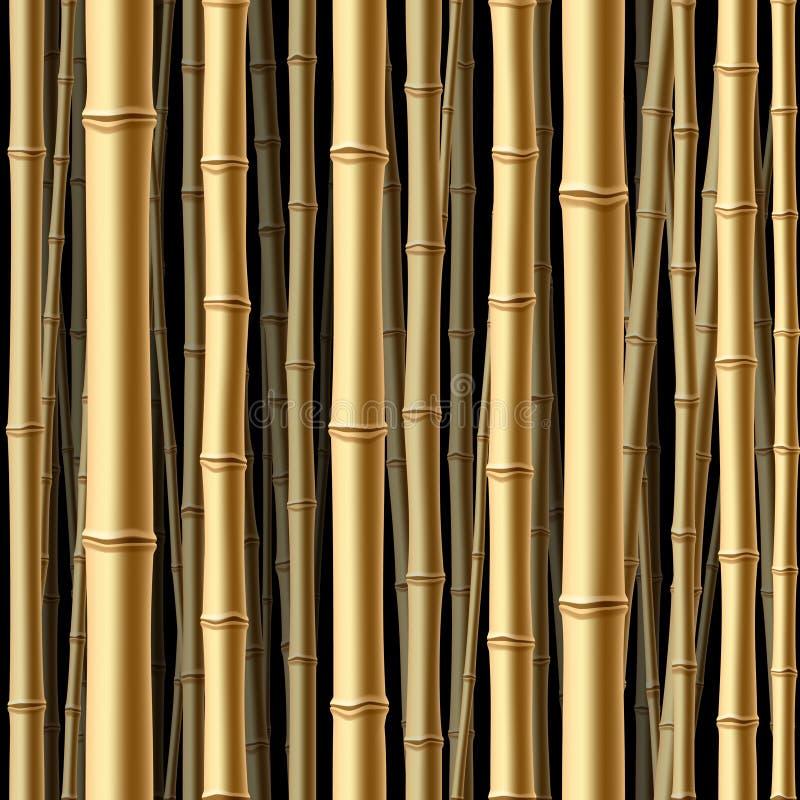 Nahtloser Bambuswald. Vektor. vektor abbildung