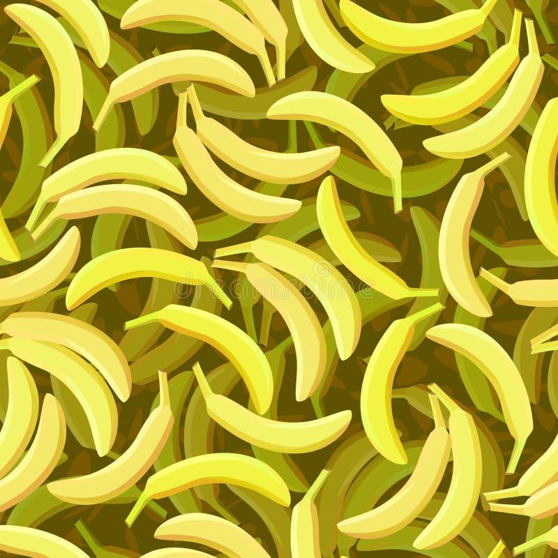 Nahtloser Bananenhintergrund stock abbildung