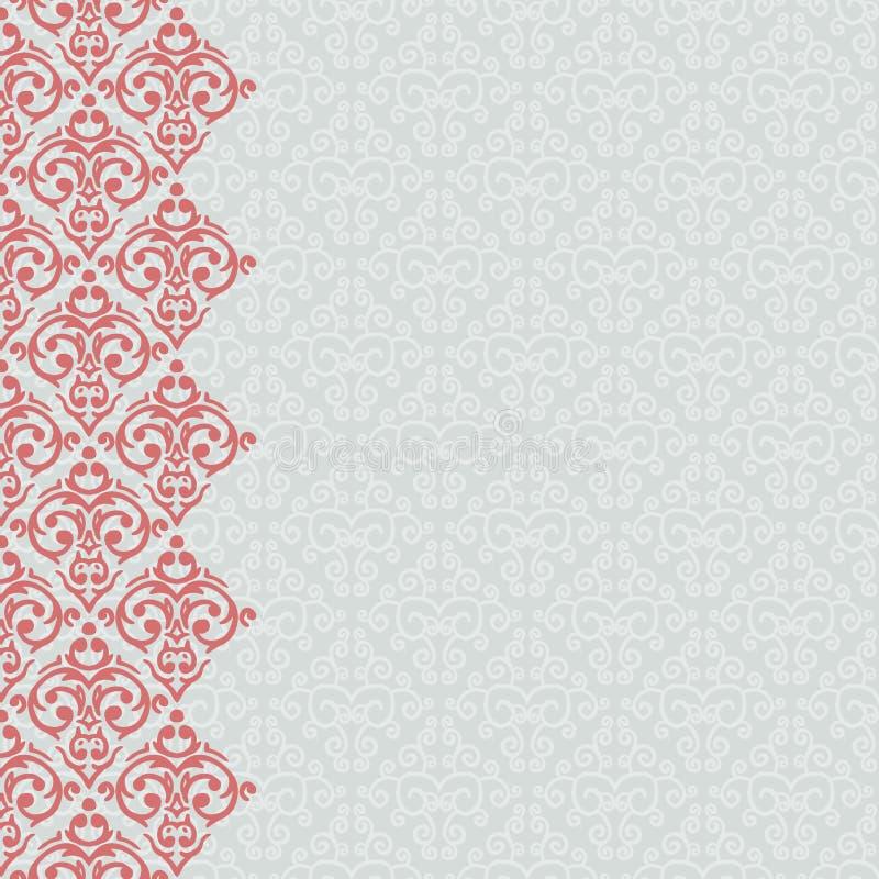 Nahtloser barocker Damasthintergrund vektor abbildung