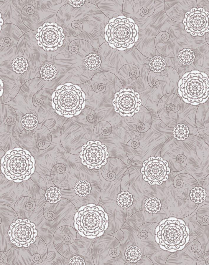 Nahtloser Beschaffenheitshintergrund mit geometrischem Blumenmuster vektor abbildung