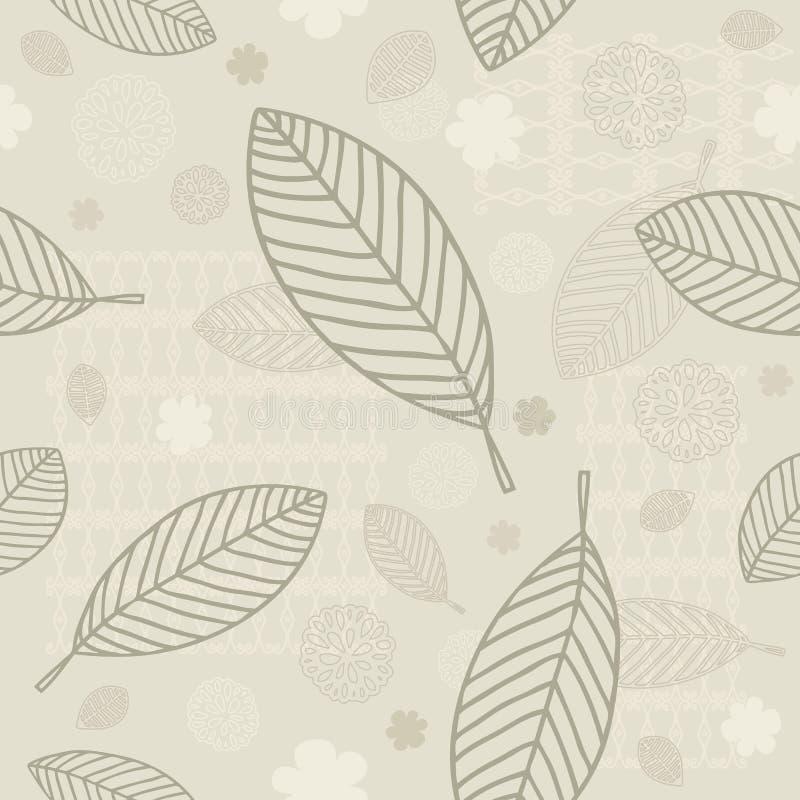 Nahtloser Blatt-Hintergrund lizenzfreie abbildung