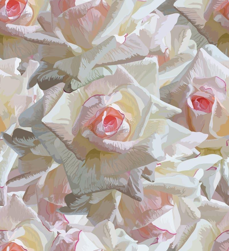 Nahtloser Blumenhintergrund lizenzfreie stockfotografie