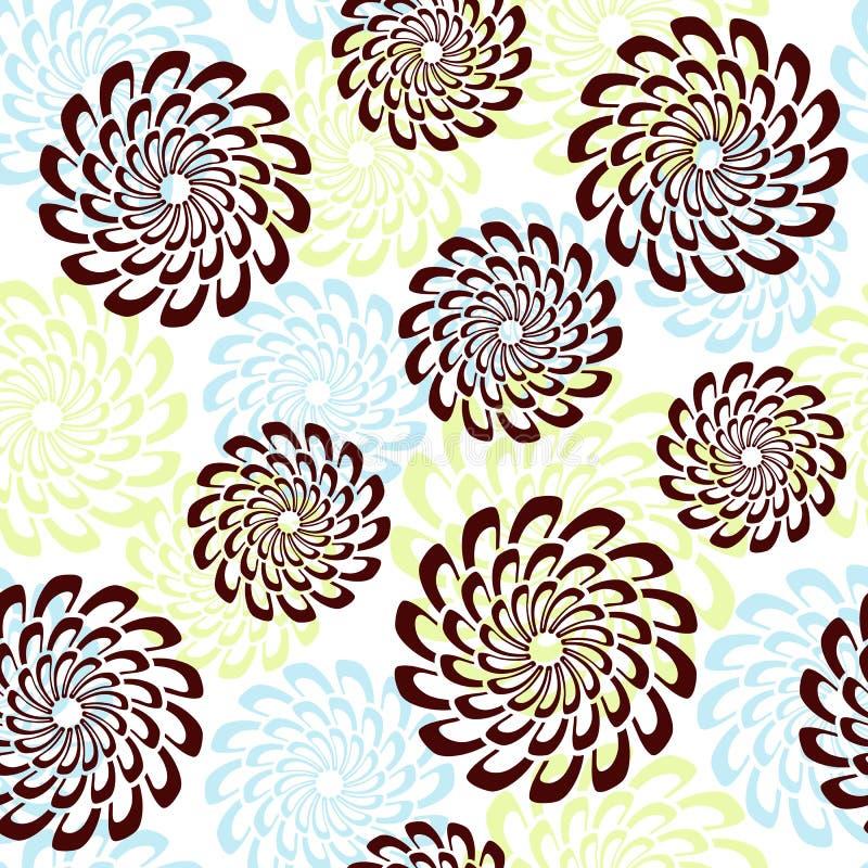 Nahtloser Blumenhintergrund. lizenzfreie abbildung