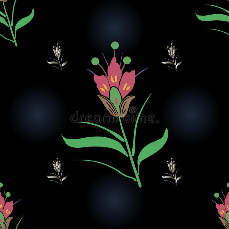 Nahtloser Blumenhintergrund stockfoto